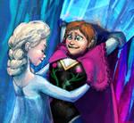 Anna in Elsa's castle