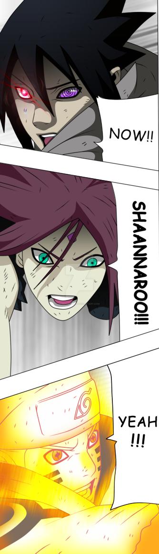 Naruto 689 - Team 7's Triple Attack! by Mjicarly225
