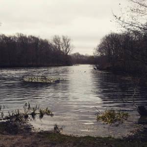 Sunday view at the lake - Original photo