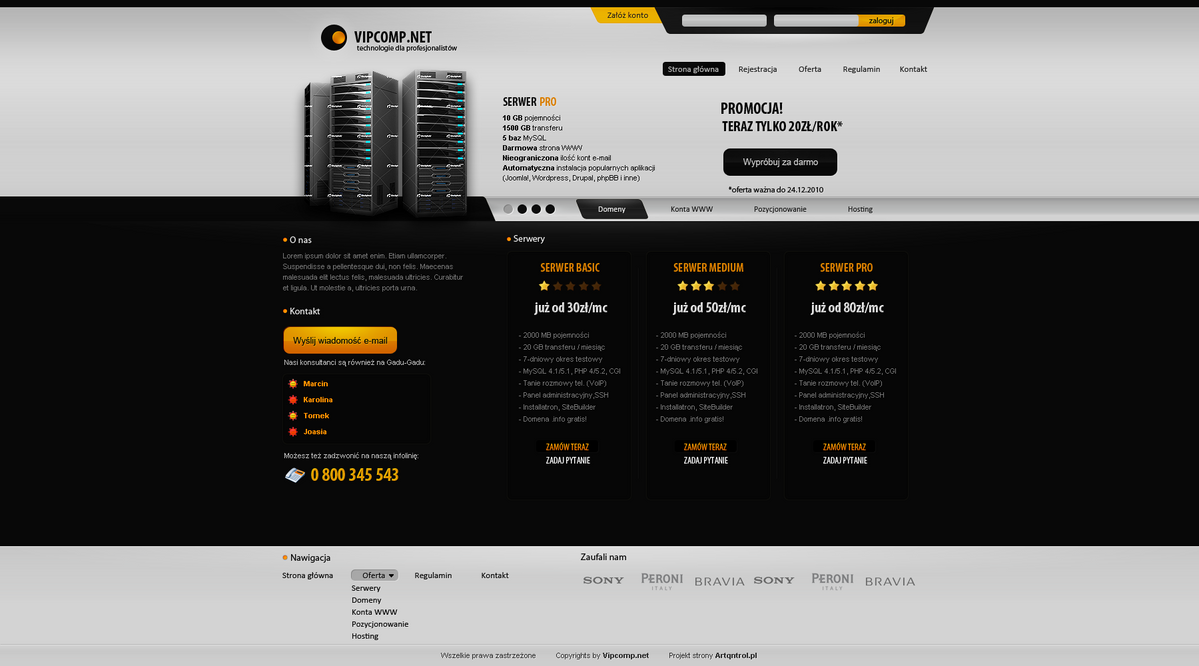 vipcomp net by lukezz d30eatl Web Design Inspiration: Inspiring and Creative Web Interface Designs