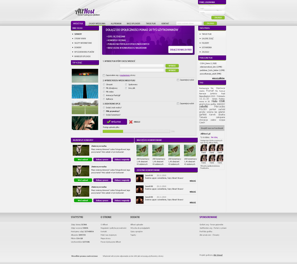 allhost by lukezz d34z541 Creatively Inspired Web Interface Designs