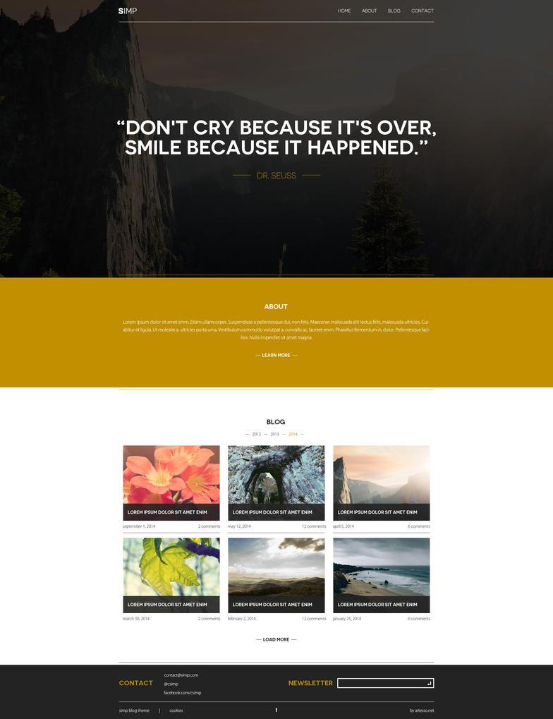 SIMP - simple blog design by Lukezz