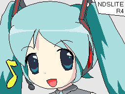 Hatsune Miku NDS Background by aces-of-the-sky
