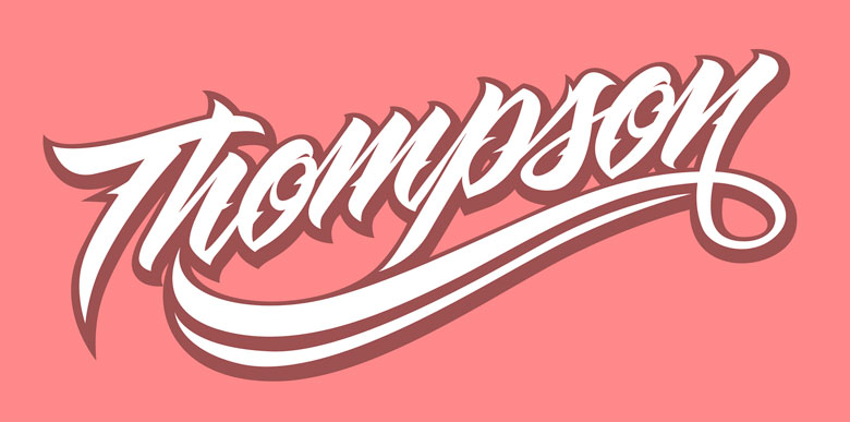 Thompson Lettering by Rusc