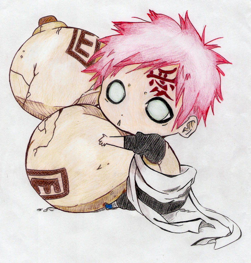 Chibi Gaara by NarIkuDark0 on DeviantArt Gaara And Naruto Chibi