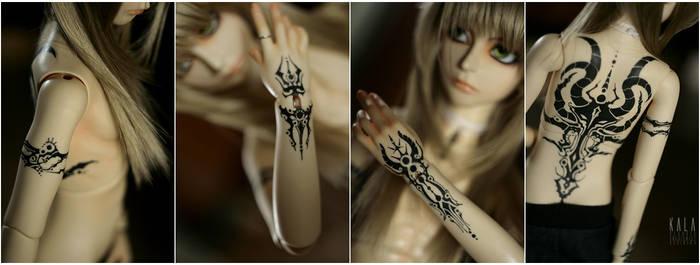 Ashra's tattoos by KlaudiaK