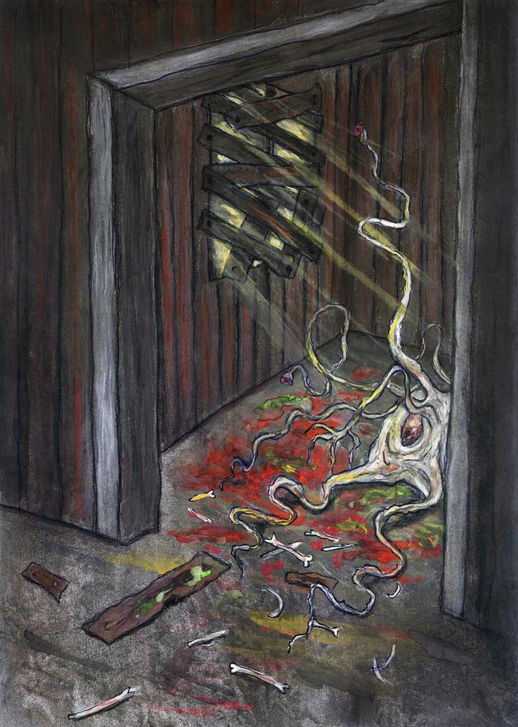Dunwich Horror- The attic by eitherangel