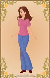 Rebecca in Disney princess style