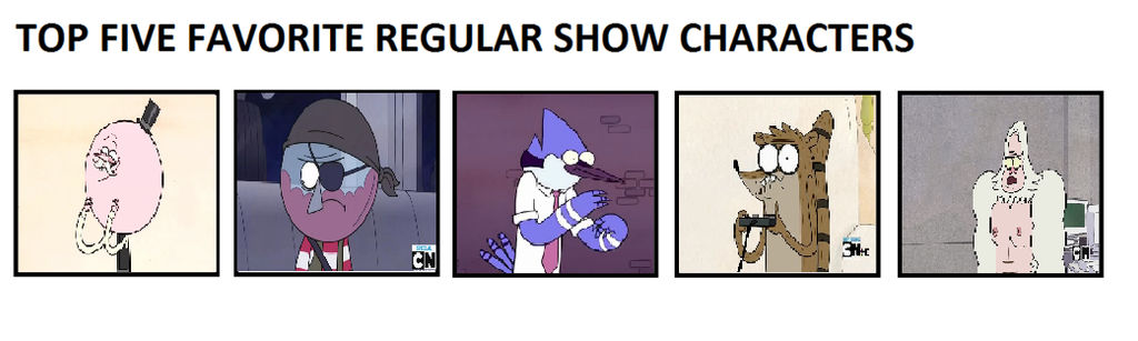 My Top five favorite Regular show characters