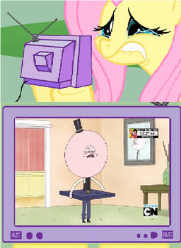 Fluttershy meme: Pops crying