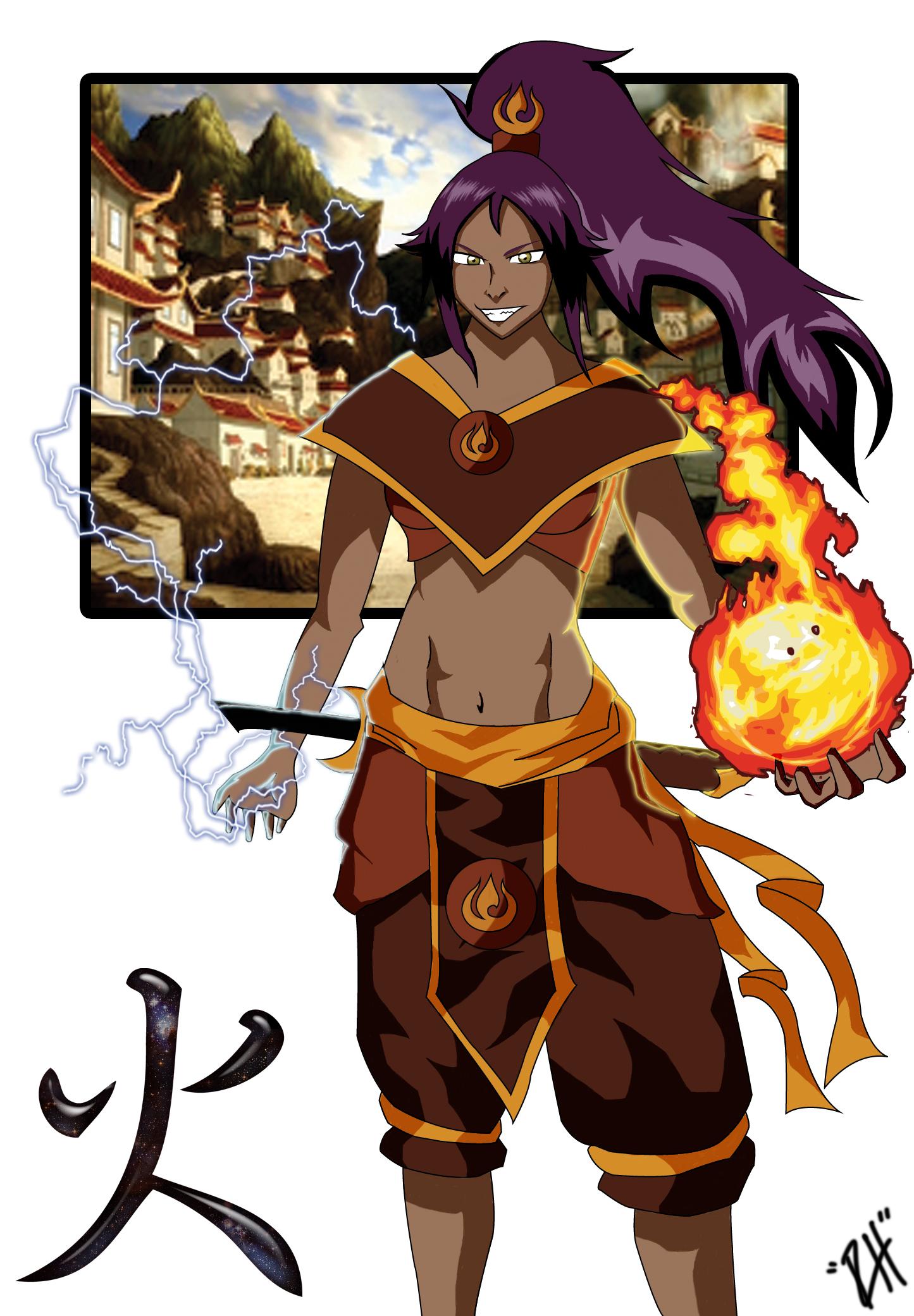 Yoruichi - Fire Nation !!! by Ryan-Hervey
