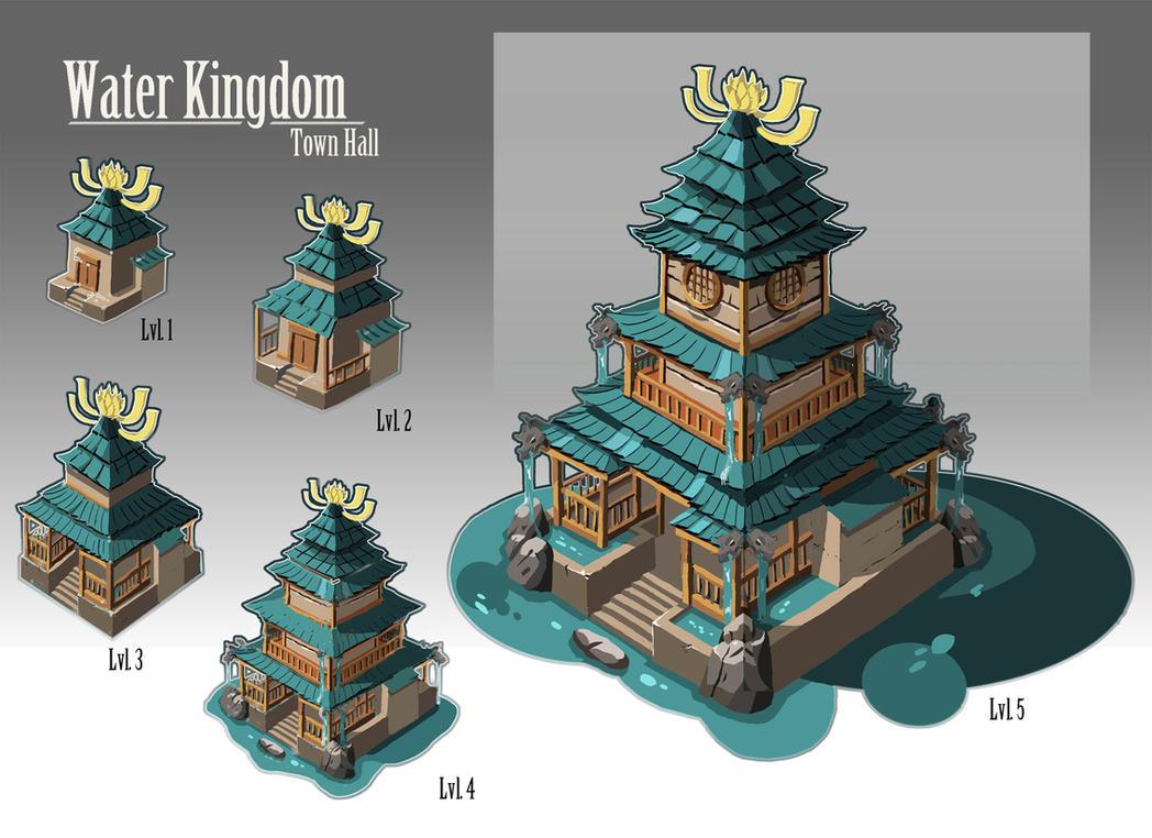 Water Kingdom - Town Hall by Karamissa