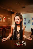 Exotic Ikuko Is Smoking by kimOSAKA