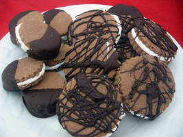 Chocolate Marshmallow Cookies by angculture