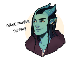 Thank You For The Fav by KazaihArt