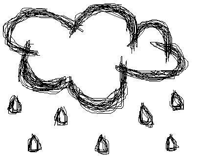 Rain Cloud Scribble by x-scribbles