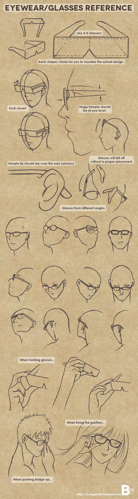 Eyewear/Glasses Reference by Boogol