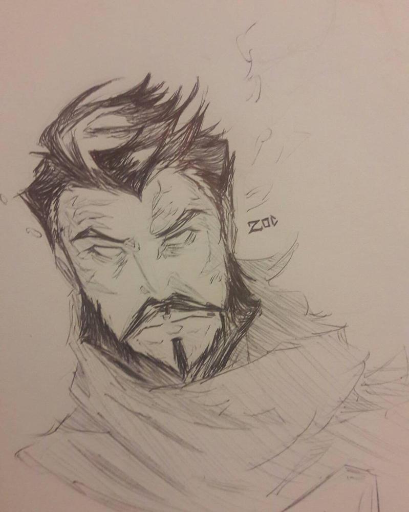 Pen Portrait: General Zod by N-Sigma