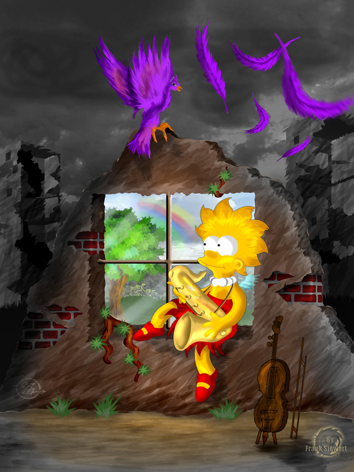 Lisa Simpson - Am Fenster by CargoOfDarkness
