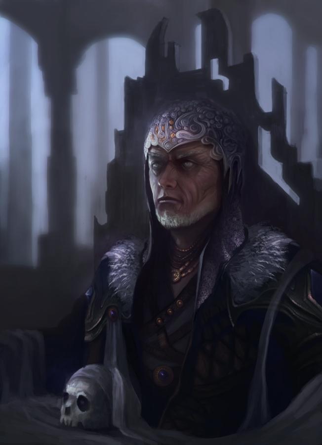 King portrait by RaVirr17