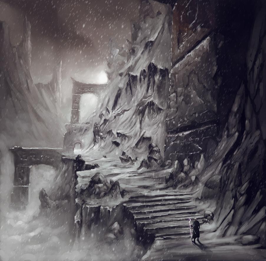 Snow valley by RaVirr17