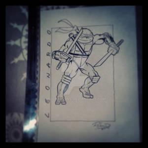 Leonardo (inked over pencil)