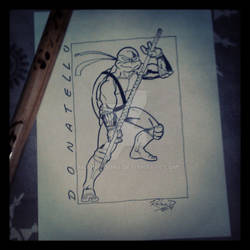 Donatello (inked over pencil)