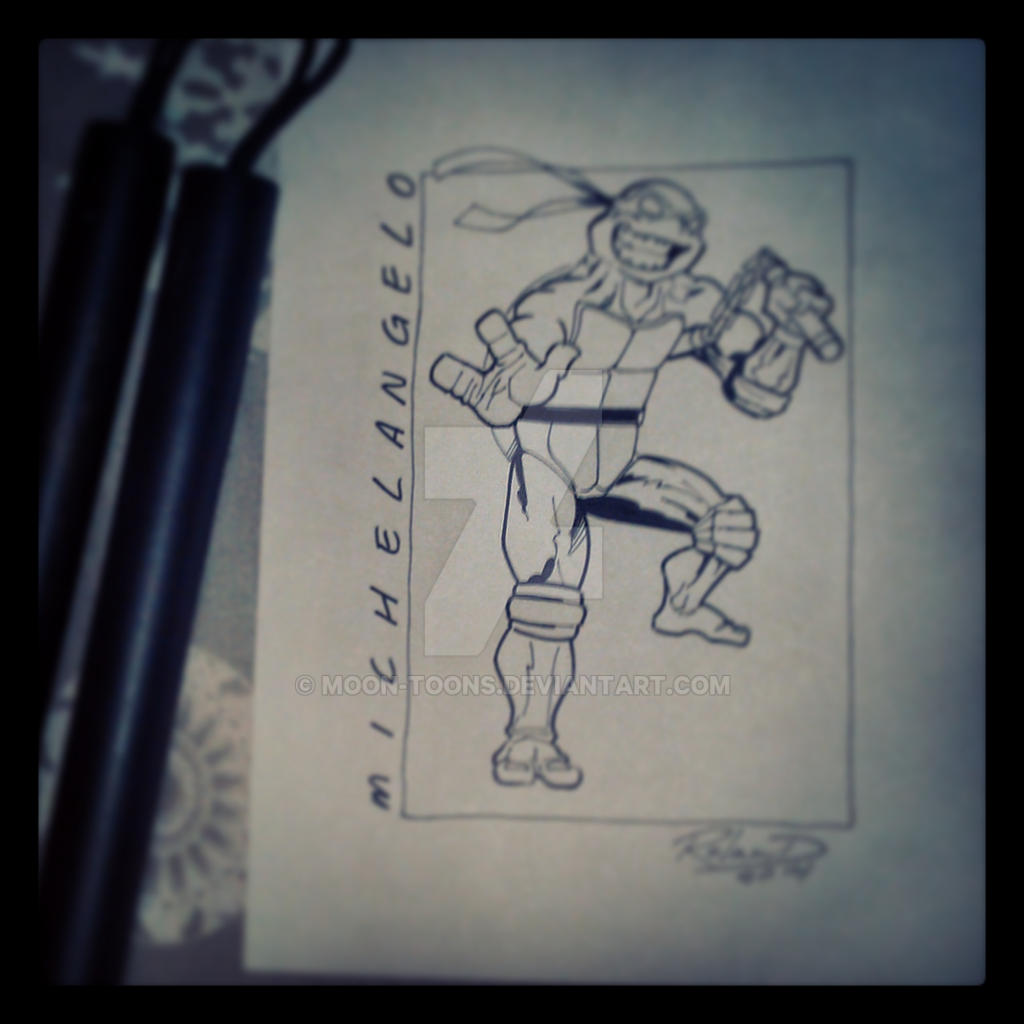 Michelangelo (inked over pencil)