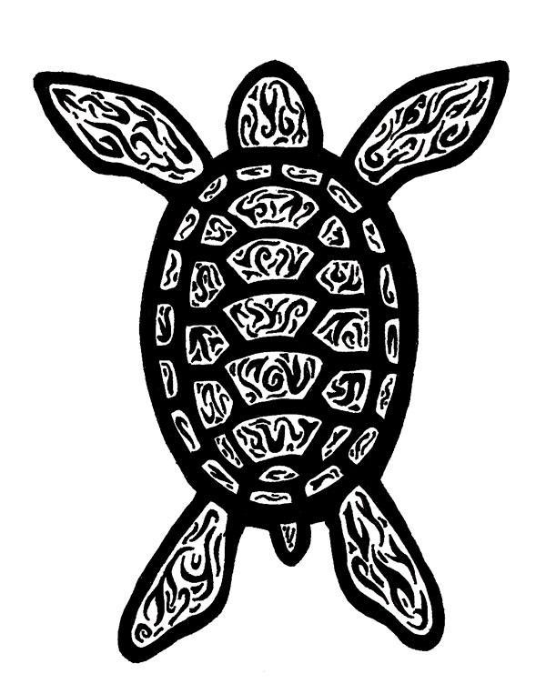Tribal Turtle Drawings Tribal Turtle Tattoo b...