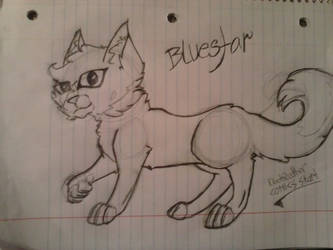 Uncolored, Unfinished, cartoony version of Bluesta