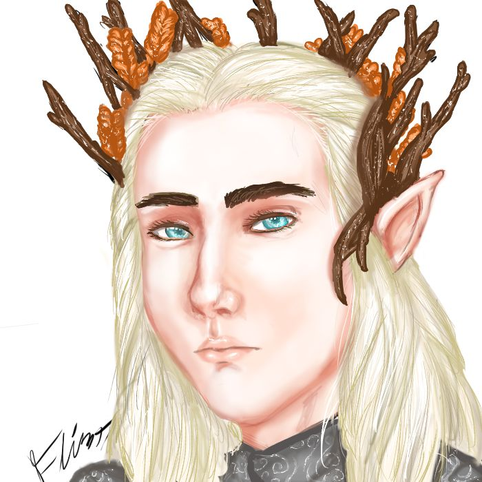 Thranduil colored by FlintTheWizard