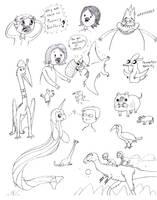 TetZoo Time! Sketch Dump by classicalguy