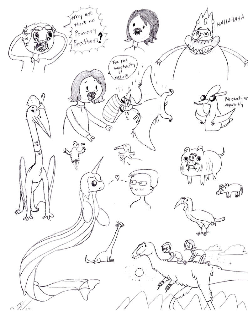 TetZoo Time! Sketch Dump by classicalguy