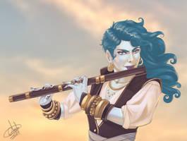 Serena digital painting.