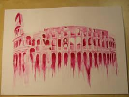 Colosseum by blue-birdie-drawings