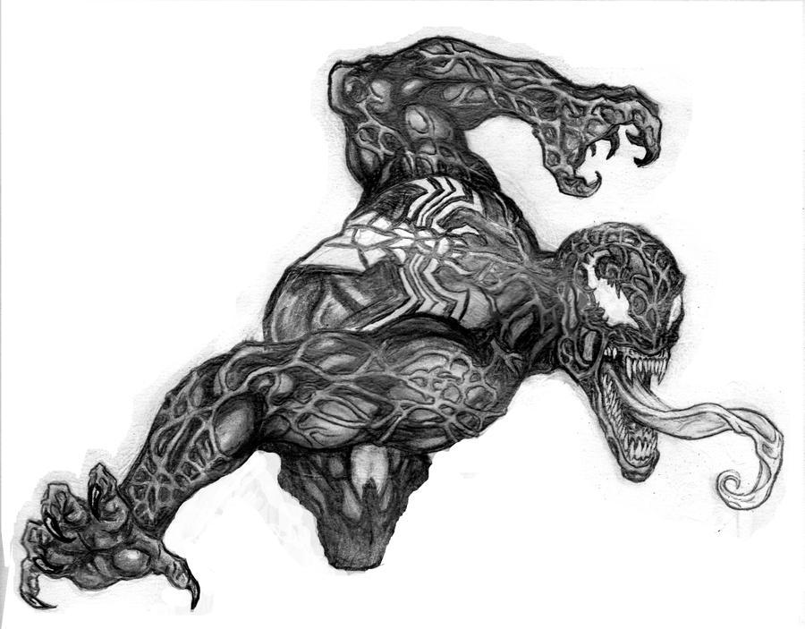 Venom Spiderman Drawing Spiderman venom   900
