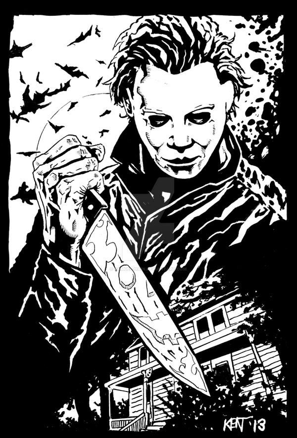 michael meyers free coloring pages