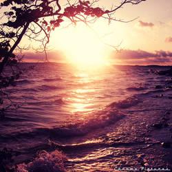 Sunset on the beach by AljoschaThielen