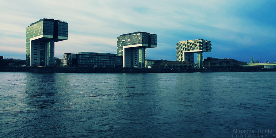 Crane towers in Cologne by AljoschaThielen