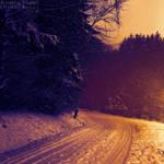 Winter evening light