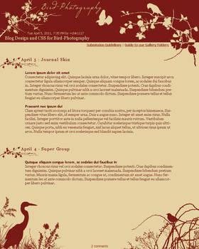 Bird-Photography Blog Design