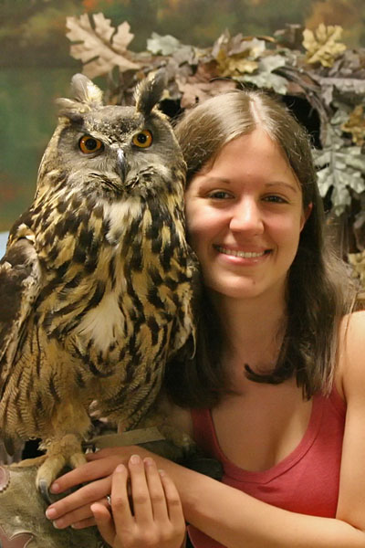 Sheba The Eagle Owl and I by mydigitalmind