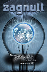 Gig Poster - Zagnutt Bulb by johnnyboston