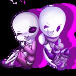 [AT] Skeleton Brothers by FlandreZeroChan