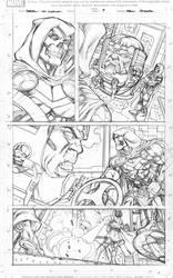 Taskmaster vs Modok by Kevin-Sharpe