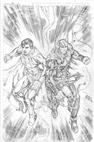 Supes  Thor Commish by Kevin-Sharpe