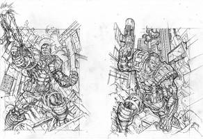 UD legendary cable 3 and 4 pencils sharpe lo r by Kevin-Sharpe