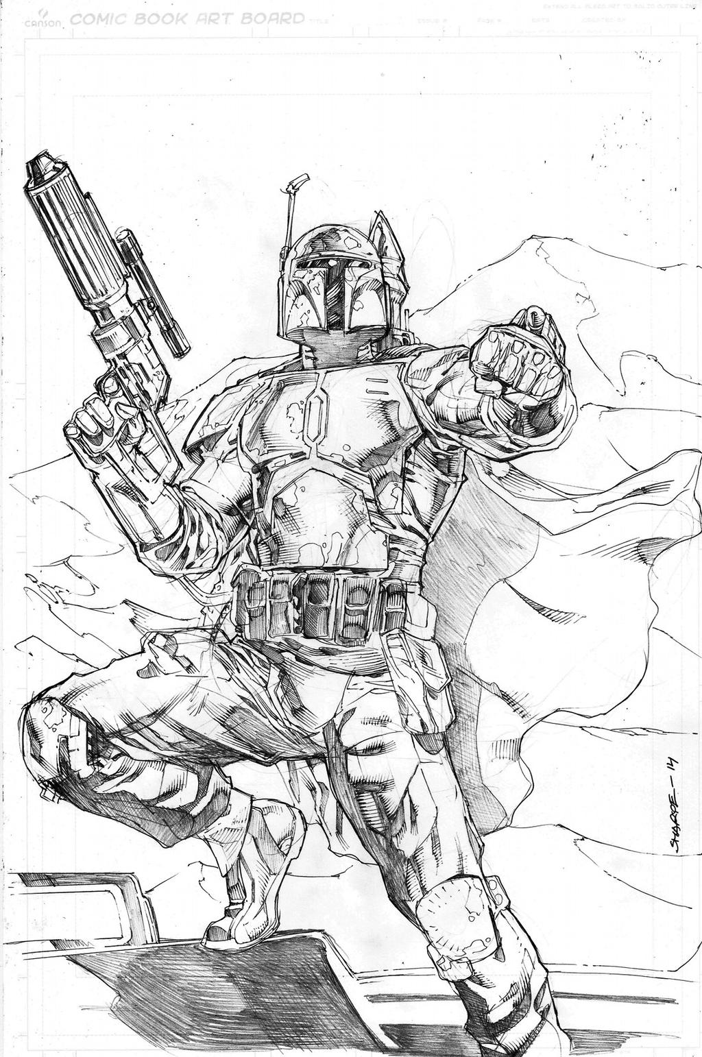 Boba Fett by Kevin-Sharpe
