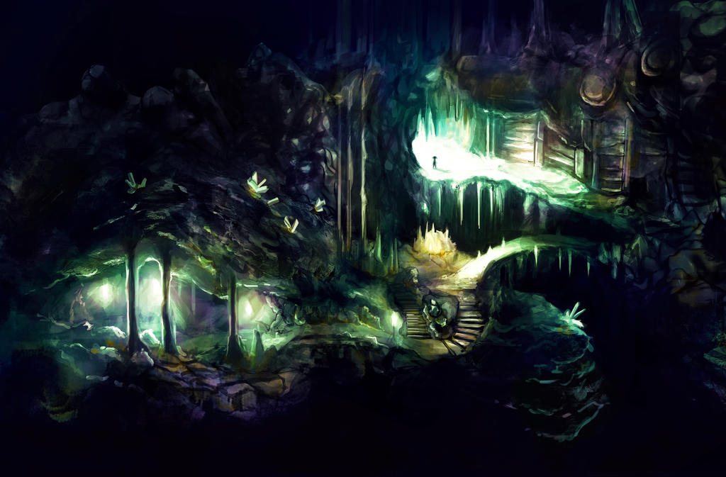 Cave Entrance Concept - A Girl's Treasure Project by LeoDeMoura