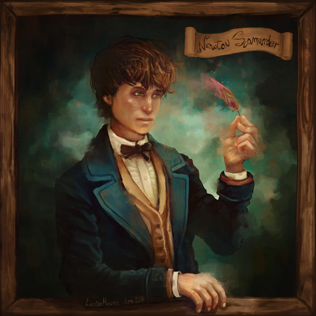 Painting Of Newt Scamander By Artist Henry Fraser